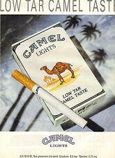 PUBLICITE  ADVERTISING  1991    CAMEL  cigarettes      LOW TAR CAMEL TASTE