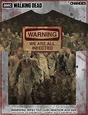 The Walking Dead Warning Infected Dye Sub Daryl Rick Walker Amc Tee Shirt S-2Xl