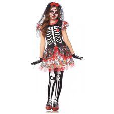 Sugar Skull Costume Kids Day of The Dead Halloween Fancy Dress