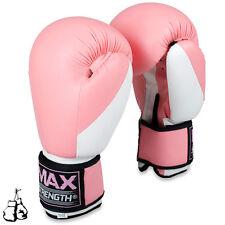 Pink Ladies Boxing Glove Grappling Training Punch MMA Women Kick Thai Fight Bag