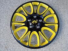 "4 Alu-Design Radkappen in 15 Zoll ""Hero RS "" Modell 2013 gelb/schwarz"