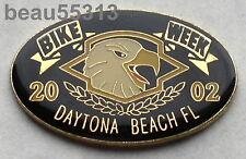 2002  DAYTONA FLORIDA BIKE WEEK ENAMEL JACKET VEST HAT TAC PIN