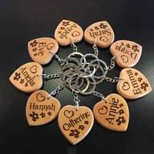 Personalised Name Keyring Keychain Key fob Novelty keepsake Gift Heart Design