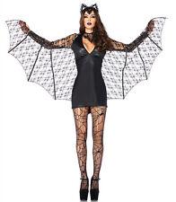 Ladies Womens Sexy Vampire Bat lady Halloween Costume Fancy Party Dress ladcos9