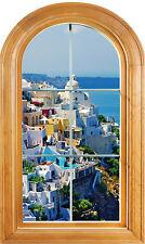 Sticker fenêtre vouté trompe l'oeil déco La Grèce réf 626