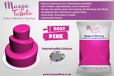 Massa Taffeta | Fondant Sugar paste Ready to Rolled Icing Cake Craft | Rosy Pink