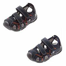 Niños Sandalias cerrado Cuero Suela interior Zapatos Cierre adhesivo Talla 25-30