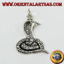 Ciondolo in argento 925 ,  cobra che esce la lingua