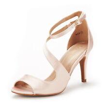 DREAM PAIRS Women's NILE Fashion Stilettos Open Toe Wedding Pump Heel Sandals