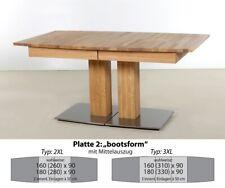 hochwertiger Säulentisch bootsform Esstisch Ausziehtisch Holztisch Alton XL