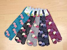 Japanese Tabi Socks Split Toe Beautiful Peony Flower