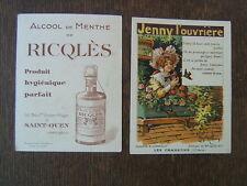CHROMO ALCOOL DE MENTHE RICQLES / GERBAULT / JENNY L OUVRIERE