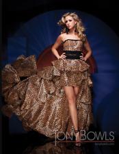 Tony Bowls MON CHERI TBE11135 Pageant Leopard Print Taffeta  Gown sz 0-8 NWT