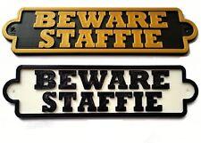 Fai attenzione Staffordshire Bull Terrier targhetta cane 3D-Casa Porta Giardino PORTONE segno L