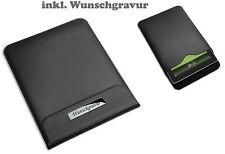 LUJO Tableta Computadora Bolsa REFLECTS lonint, Negro Piel Sintética incl.