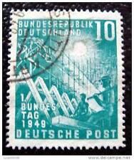 ALLEMAGNE RFA - timbre - yvert et tellier n°1 obl - stamp germany