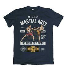 Mixed Martial Arts mens t shirt Ufc Fighter Brazilian Jiu Jitsu Trainer S-3XL