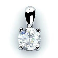 0,30 a 0,60 QUILATES Solitario Diamante Colgante Hecha A Mano En Oro Blanco / Oro Amarillo.