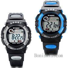 LED Light Alarm Digital Luxury Sport Quartz Wrist Watch Kid Women Girl Men Boy