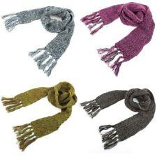 écharpe tricot acrylique épais pompons long tricoté chaud hiver couleur écharpe