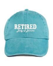Retired Lady Of Leisure Retirement Baseball Style Cap Hat