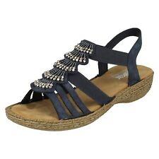 Ladies Rieker Open Toe Slingback Bead Embelished Sandals - '65869'