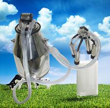 25L Portable Cow Milker Bucket Tank Milking Machine 304 StainlessSteel Farm tool