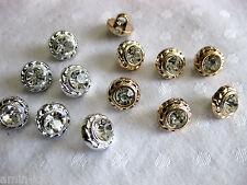 15 hübsche Knöpfe, in gold oder silber Farben,Farbe wählbar,ca.11mm ,  K113.4