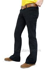 Mens black bootcut cords vtg jeans retro flares mod 60s