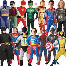 Kids boys Superhero Costume Muscle Spiderman Ironman Thor Hulk Cosplay 3-10 Yrs