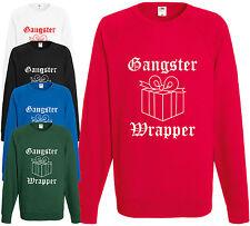Gangster Wrapper Xmas Sudadera Regalo Navidad Jumper divertida Comedia actual Cool