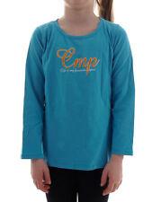 CMP à Manches Longues Chemise Décontractée Shirt à Col Rond Blau Imprimé