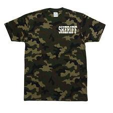 PROCLUB PRO CLUB CAMO Camouflage T-SHIRT T SHIRT Sheriff Police
