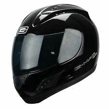 G-Mac Piloto Evo Blackout Casco Motocicleta Cara Completa - Negro Brillante+