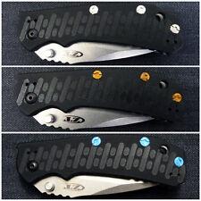 Custom Titanium Handle Scale Screws Made for ZT0550 Zero Tolerance ZT 550 0550