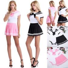 Sexy Women Schoolgirl Uniform Lingerie Sailor Student Fancy Dress Costume Outfit