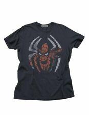 Adult Charcoal Marvel Comics Superhero Junk Food Spider-Man Venom T-Shirt Tee