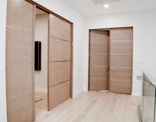 "INTERIOR Mahogany Flush Door with 1/4"" Horizontal  Aluminum Strips (1-3/4"") Slab"