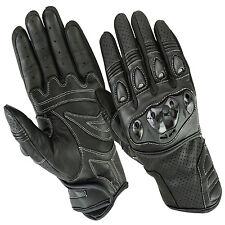 Motorradhandschuhe,Biker Leder kurz Handschuhe, Motorrad Sommer Handschuhe S-XXL