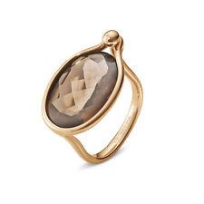 Georg Jensen 18k Rose Gold Ring with Smoke Quartz #1506 - Savannah