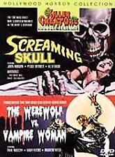 Screaming Skull/Werewolf Vs. Vampire Woman DVD Hollywood Horror...W/INSERT BIN