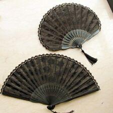 1PC Gothic Women Hand Fan Vintage Lolita Victorian Court Lace Hand Fan