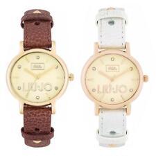Reloj De Mujer LIU JO Luxury OLDIE Cuero Blanco Brown Rose Gold Swarovski