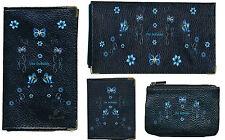 Porte Chequier ou compagnon, porte monnaie, porte carte grise Papillon initiale
