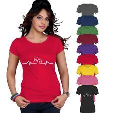 Ladies Tractor Pulse Rate Plough Top Printed TShirt Womens Short Sleeve Lot