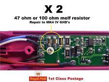 2 x GHD Mk4 R8 / R11 Melf Resistor 100 or 50/47 Ohm (hair straightener repair)