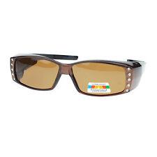 d2de1c3bb6af Womens Polarized Fit Over Glasses Sunglasses Rhinestones Rectangle