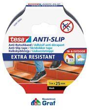 tesa Anti-Rutschband 5 m x 25 mm / in transparent und schwarz erhältlich / #870