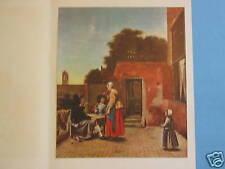 Art Print - A Dutch Courtyard By Pieter de Hooch - Print