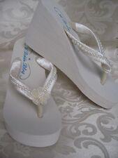 Bridal Flip Flops Beach Wedding Flip Flops Sandal Pearl